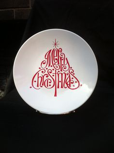 Christmas Tree Plate by uniqueblessings12 on Etsy,