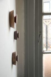MOOI.KNOP - custom set van 3 handgemaakte houten wandhaken | WANDDECORATIE | studiomooibos