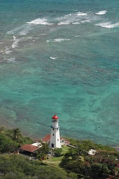 Diamond Head Lighthouse. Honolulu Hawaii
