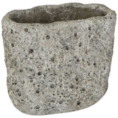 Potten - Moonrock Cement ovale pot low m PTMD collection € 10,95