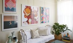 How to hang art from a picture rail - Two Novel Ideas for Hanging Art -- One Kings Lane