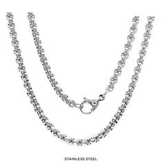 Unisex Stainless Steel Round Box Chain - Assorted Finishes at 92% Savings off Retail!
