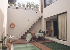 Exterior Stairs Architecture Railings 45 Ideas For 2019 Cement Patio, Flagstone Patio, Casa Patio, Pergola Patio, Patio Railing, Patio Decks, Pergola Kits, Pergola Ideas, Small Backyard Pools