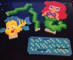 Little Mermaid Perler Bead Stand by TriforceInk on Etsy