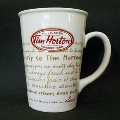 Tim Hortons Always Fresh Toujours Frais Limited Edition 009 Cup / Mug Tim Hortons Coffee, Mugs, Tableware, Vintage, Food, Strawberry Fruit, Dinnerware, Tumblers, Dishes