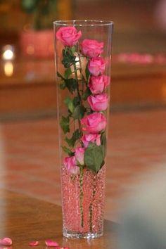 15 New ideas wedding centerpieces pink roses flower arrangements Fake Flowers, Diy Flowers, Fresh Flowers, Pretty Flowers, Flower Ideas, Flower Diy, Wedding Flowers, Nice Flower, Fake Flower Centerpieces