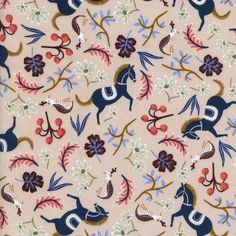 """Les Fleurs by Rifle Paper Co. 100% woven cotton. 45"""" Wide Machine wash cold. Tumble dry on low. All sales final. All fabric sold by 1/4 yards."""