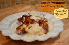 Bacon Wrapped Sour Cream Chicken crockpot recipe