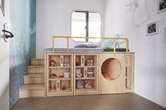 Design Detail – This Children's Bedroom Has A Custom Bed Unit With Storage And A Hidden Play Space HAO Design have created a child's bedroom with a custom bed that's been designed to get the child familiary with putting things away after using them. Modern Kids Bedroom, Girls Bedroom, Bedroom For Twins, Small Childrens Bedroom Ideas, Lego Bedroom, Kid Bedrooms, Bedroom Bed, Small Room Design, Kids Room Design
