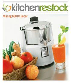 Waring 6001C Juicer, Electric http://www.kitchenrestock.com/Waring-6001C-Juicer_p_1848.html #kitchenrestock #juice $299.50 *price subject to change