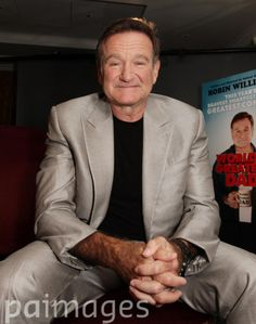 Actor Robin Williams during a photocall for the film 'World's Greatest Dad', at the Madarin Oriental hotel in Knightsbridge, London.