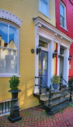 We love the colorful homes! Old Town Homes I Photograph by Steven Ainsworth - Old Town Homes I Fine Art Prints and Posters for Sale
