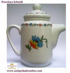Porcelana Schmidt Bule Antigo com Motivo Floral http://www.antiguidadesonline.com/porcelana/schmidt/index.php