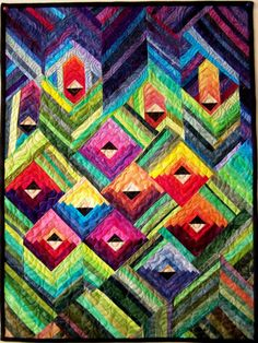 Art quilt wall hanging Secret Garden by marytequilts on Etsy