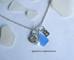 Personalized Sea Glass Jewelry  Monogram by EgyptianInspirations, $23.99