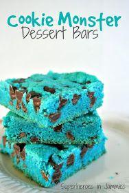 Cookie Monster Dessert Bars