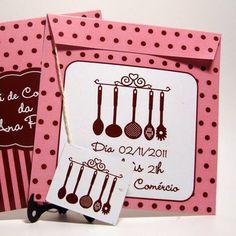 Convite chá de cozinha retrô (und) | Personnale Estúdio Design | 2B57A8 - Elo7