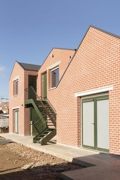Scouts Geel Rugby Club, Traditional Homes, Dezeen, Urban Planning, Facades, Scouts, Garage Doors, Alternative, Mansions