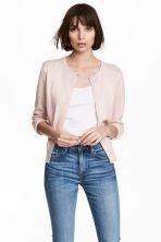 Cotton cardigan - Powder pink marl - Ladies | H&M GB 1