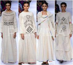 mirror work by purvi for lakme fashion week...
