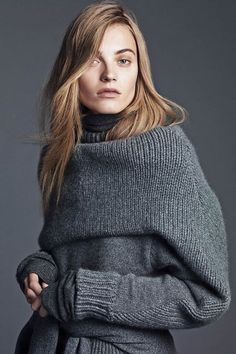 'The Grey Lady' Anna Jagodzinska by Lachlan Bailey for WSJ Magazine September 2014 [Editorial] - Fashion Copious