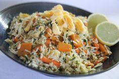 Low Fodmap fried rice.  Add chicken, omit pumpkin.