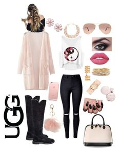 """""""The New Classics With UGG: Contest Entry"""" by lauralejandrahg on Polyvore featuring UGG, WithChic, Avenue, Repossi, Aspinal of London, Michele, Lime Crime, DIANA BROUSSARD, Torrid and Ray-Ban"""