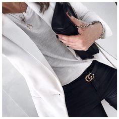 S p r i n G  i s  i n  t h e  A i r 🌸 •Blazer #zara •Bag #sezane •Belt #gucci