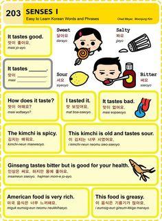Learn Korean Hangul Senses 1