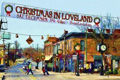 Art Photograph - Christmas In Loveland by Litchfield  Artworks
