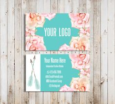 Custom Business Cards Home Office Compliant Font and Colors Mint Flowers Business Cards Arrows Digital Business Cards Boho Floral Digital Business Card, Business Card Maker, Unique Business Cards, Lularoe Business Cards, Mint Flowers, Business Card Design Inspiration, Flower Company, Sky Design, Online Print Shop