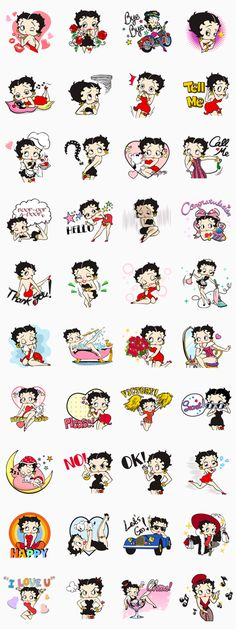 Sexy, cute and glamorous! Yep, Betty Boop is here to spice up your LINE chats - Oh Yes! There's a sticker for every occasion!