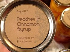How to Martha-Up your Jam Labels for Nearly Free in About 5 Minutes - from Northwest Edible Life