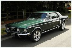 1968 Ford Mustang Coupe GT—Muscle cars of the and What are your favorites? 1967 Mustang, Ford Mustang Classic, Ford Classic Cars, Mustang Cars, Ford Mustang Gt, Autos Ford, Opel Gt, Pontiac Bonneville, Pony Car