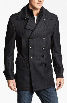 Grey Pea-Coat