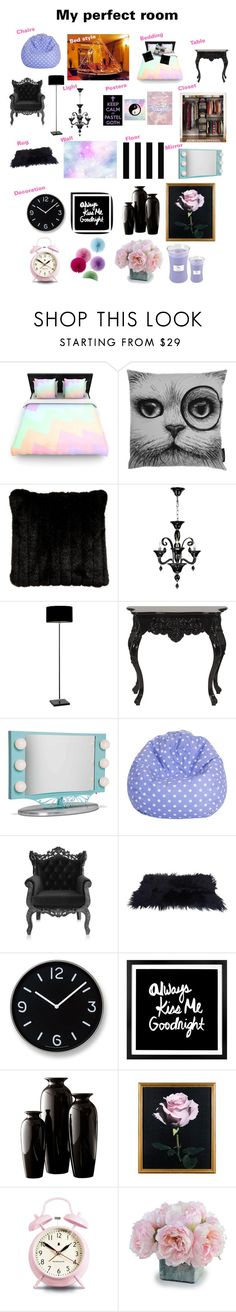 """Pastel goth bedroom"" by neon-life ❤ liked on Polyvore featuring interior, interiors, interior design, home, home decor, interior decorating, Kess InHouse, Rory Dobner, Ethan Allen and Marimekko"