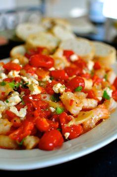 Roasted Tomato-and-Feta Shrimp on thejoyofeverydayc
