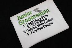 Junior Groomsman Embroidered Duties Shirt by LBChildrensBoutique, $18.00