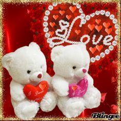 be mine blingee Beautiful Love Images, Love Heart Images, Love You Images, Beautiful Rose Flowers, Teddy Bear Cartoon, Cute Teddy Bears, Bear Valentines, Valentine Day Love, Bear Gif