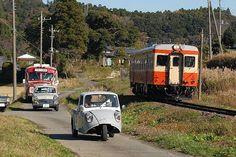 カテゴリーに悩みます。 Japanese Cars, Vintage Japanese, Kobe Japan, Japanese Landscape, Car Posters, Diesel Locomotive, Sweet Cars, Old Pictures, Old Cars