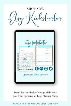 It�s an Etsy pop-up store, complete with a done-for-you planner, matching Etsy banner ad, Etsy SEO keywords, matching social media graphics and more! #Planner #InDesign