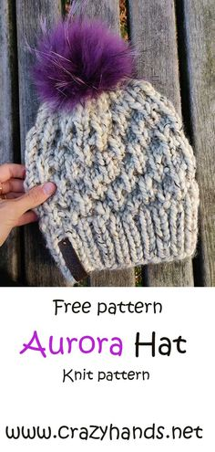 Baby Hat Knitting Patterns Free, Beginner Knitting Patterns, Knitting For Beginners, Start Knitting, Knitting Projects, Double Knitting, Knitting Yarn, Chunky Hat Pattern, Beanie Pattern Free