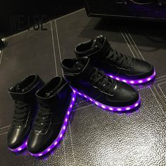 Shoes Boy Girls Shoes2019 Light Shoes Led Luminous Shoes Usb Charging Colorful Light Board Shoes Modern Design Men's Casual Shoes