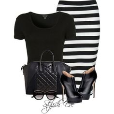 Stylish Eve Fall 2013 Outfits: Stripes are the New Sexy