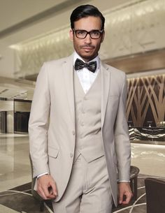 Handsome 3 Pieces Mens Suits Two Ons Wedding For Men Groom Tuxedos Business Formal Suit