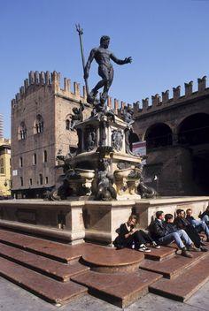 Statue of Neptune in Bologna's Piazza Maggiore:  the Trident is the inspiration for Maserati's trident logo