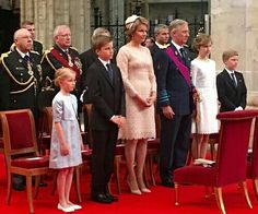 The Belgium Royal Family Attend A Te Deum Mass On National Day, July 21, 2016. At St. Michael & St. Gudula Cathedral In Brussels.