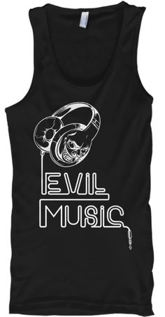 Evil Music T Shirts Black Tank Top Front