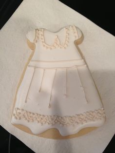 Baptism gown cookies