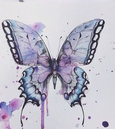 Image via We Heart It #art #beautiful #butterfly #draw #insect #nature #paint #painting